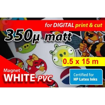 Magnet Bianco PVC 350my -...